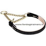 "Collare a semistrozzo ""Golden Charm"", 12 mm per cane"