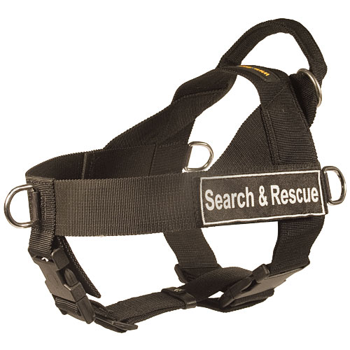 search and rescue dog harness, adjustable UK