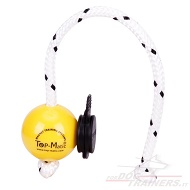 Morbida palla Fun-Ball Mini Soft gialla con clip nera