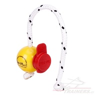 Morbida palla Fun-Ball Mini Soft gialla con clip rossa